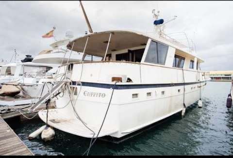 HATTERAS 70 EXTENDED DECK