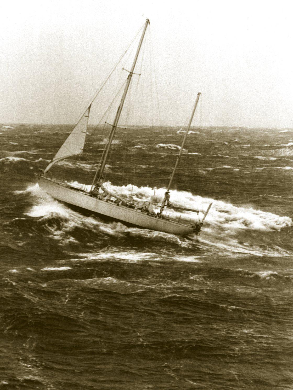 «Gipsy Moth IV» am 22. März 1967 vor Kap Hoorn