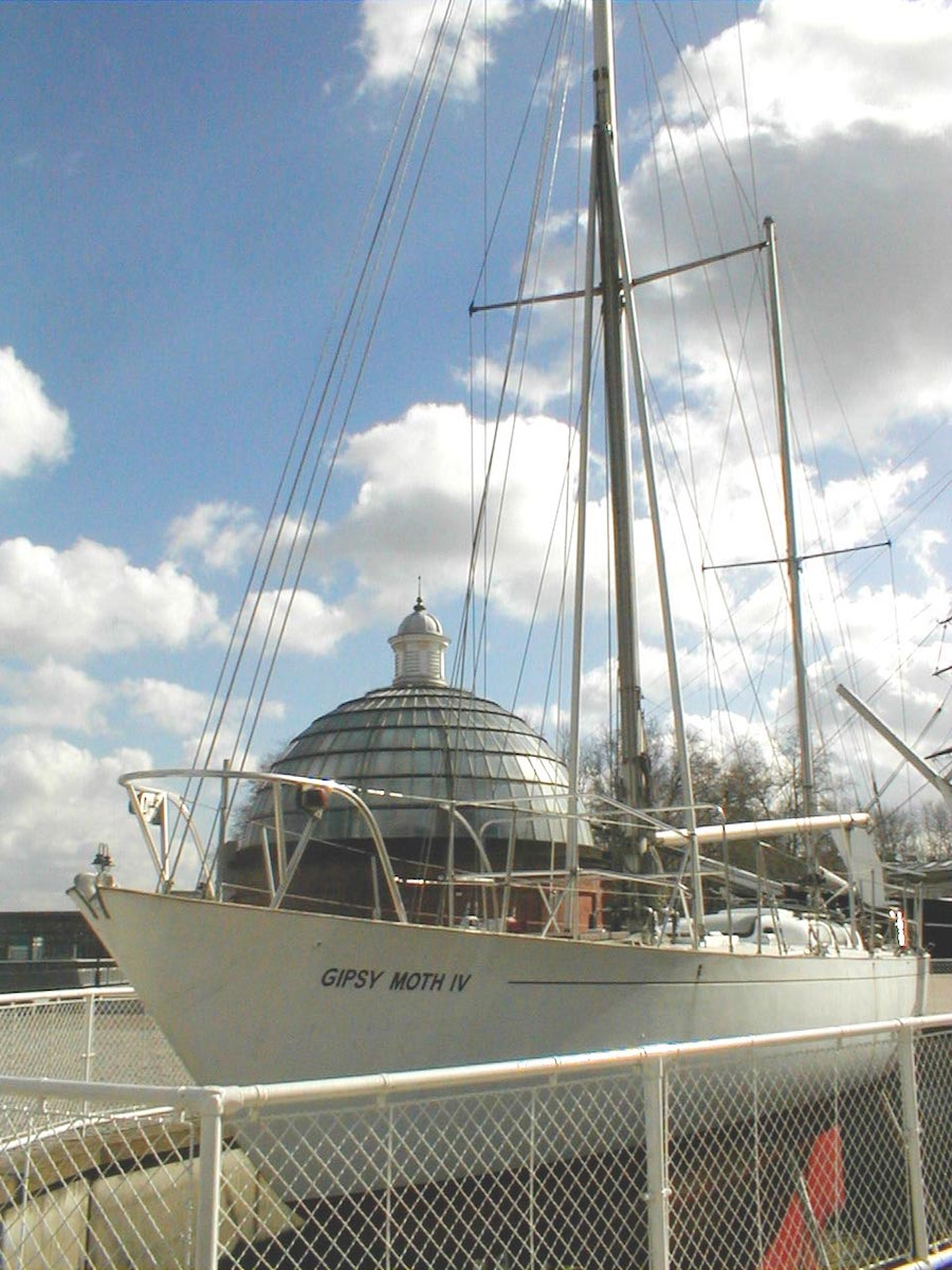 «Gipsy Moth IV» als Museumsschiff in Greenwich