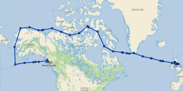 Der Weg durch die Fury-und-Hecla-Straße in der Nordwest-Passage