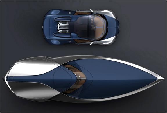 Das Bugatti Veyron Sang Bleu Concept Speedboat von 2011