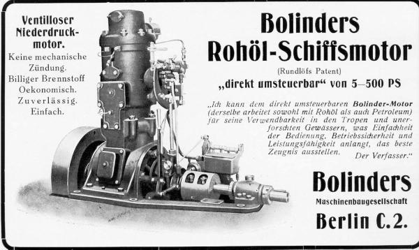 Bolinders Rohöl-Schiffsmotor