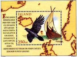 In Island hat es der Landspäher Rabe sogar auf eine Briefmarke gebracht