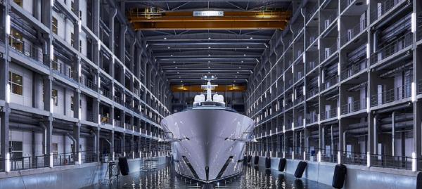 Die bei Oceancos in den Niederlanden hergestellte «Jubilee» ist die größte Megayacht, die jemals in den Niederlanden aufn Kiel Gelegt wurde