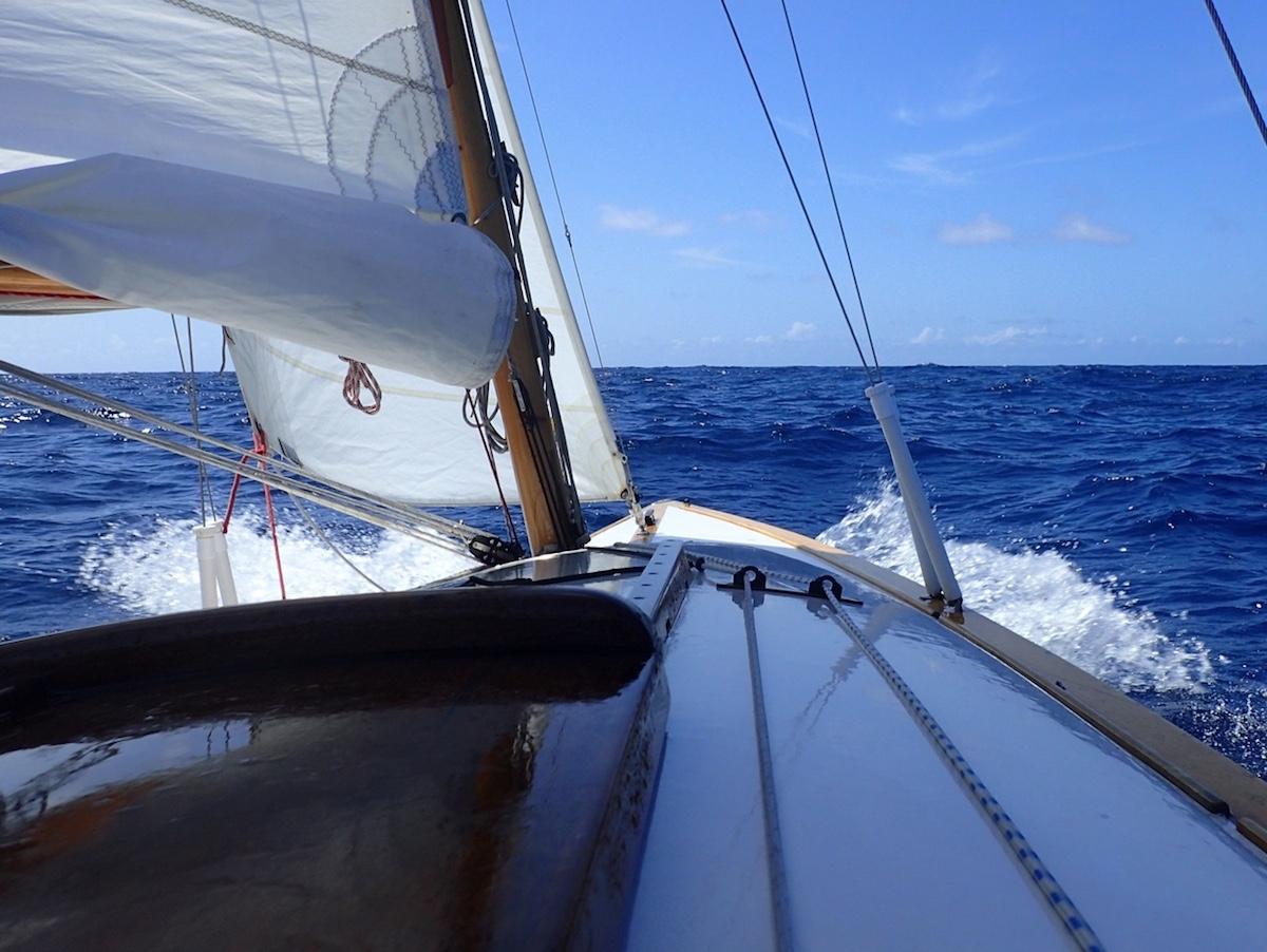 Mälarboot unterwegs im Indischen Ozean