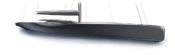 Die geschwungene Deckskante des Bootes