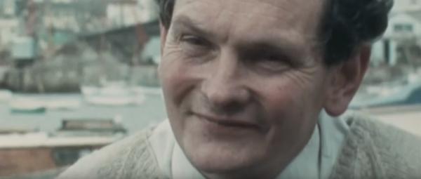 Donald Crowhurst während eines TV-Interviews vor dem Start