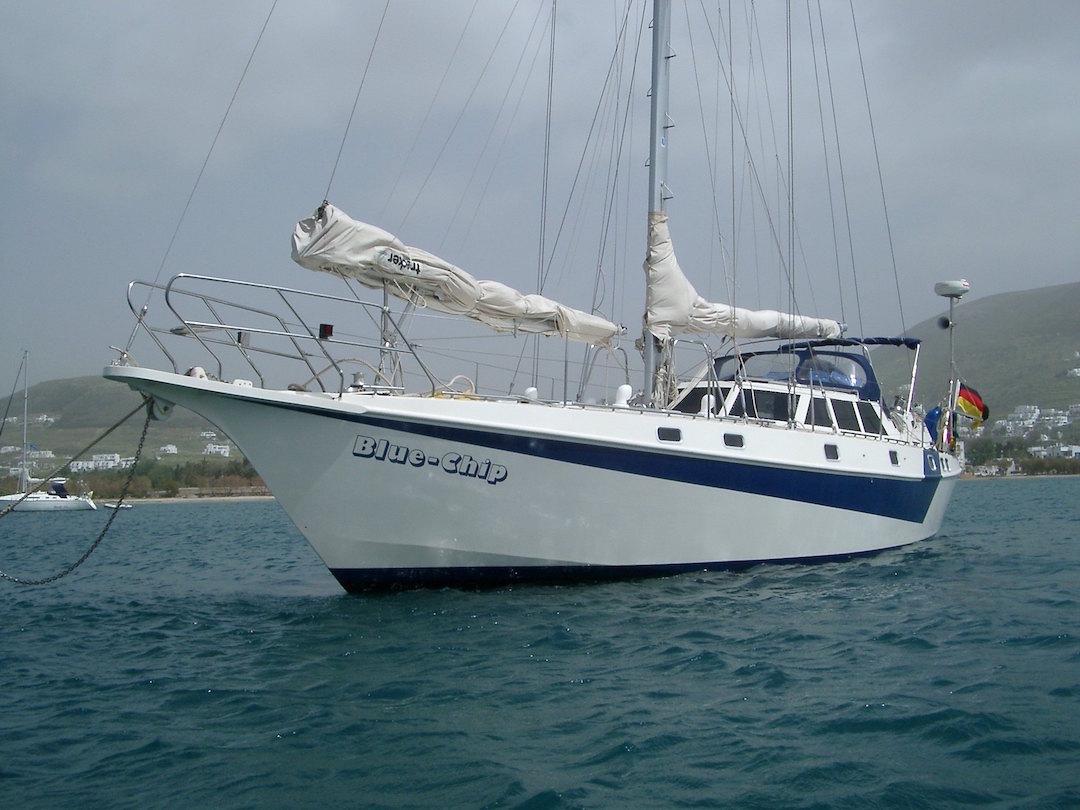 Reinke 15 M in südlichen Gewässern mit vorbalanciertem «Trekker» Fockbaum