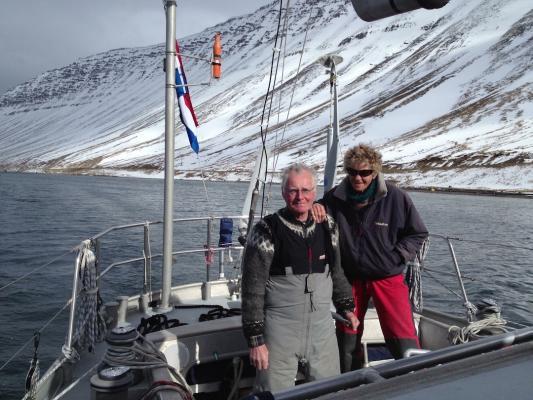Gerard und Loon Dykstra April 2013 in Isafjörour im Nordwesten Islands