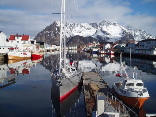Während des ersten Norwegentörns in Svolvaer/Lofoten