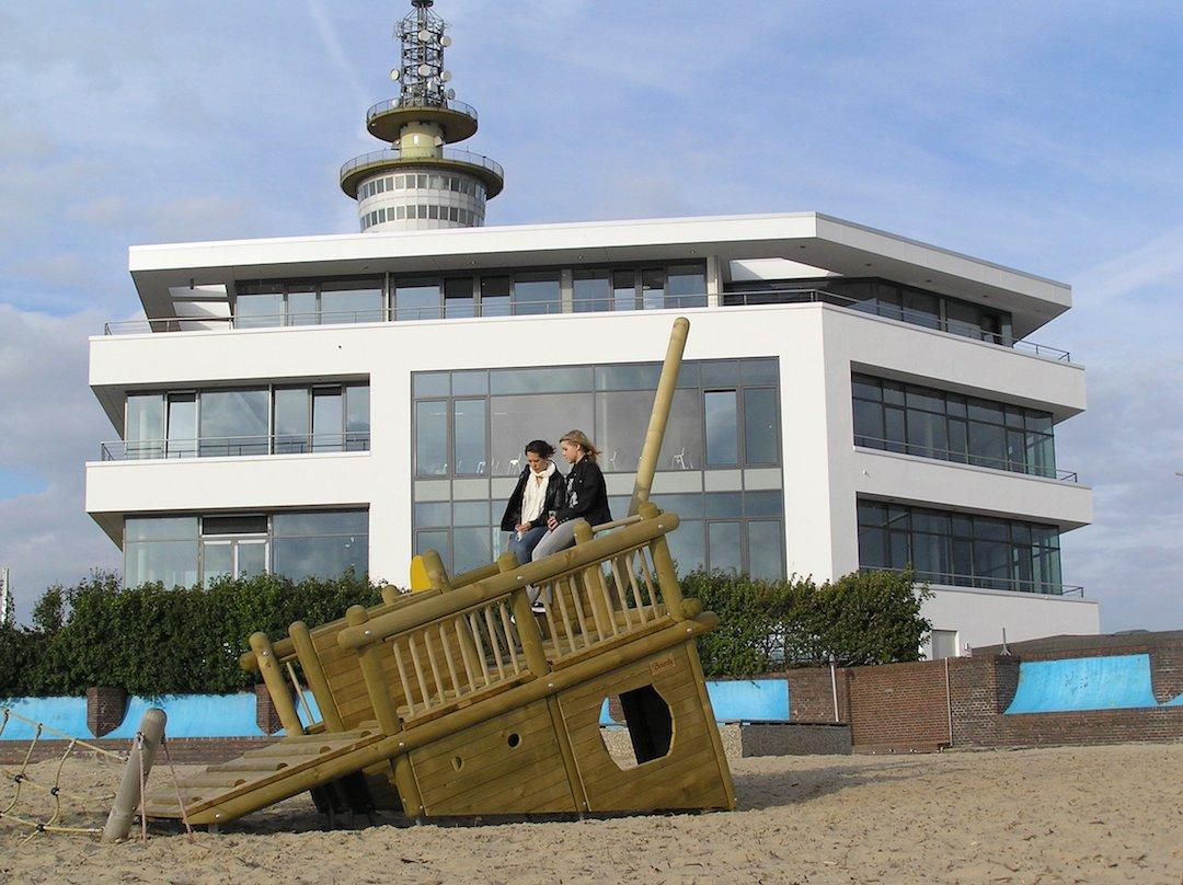 Das Yacht-Konstruktionsbüro am Weserufer in Bremerhaven
