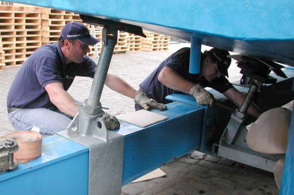 Zur Vermeidung von Schäden muss das Boot richtig abgesetzt werden