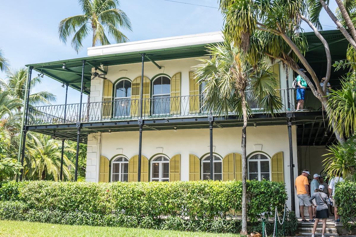In diesem Haus auf Key West lebte Hemingway in den Dreißigerjahren