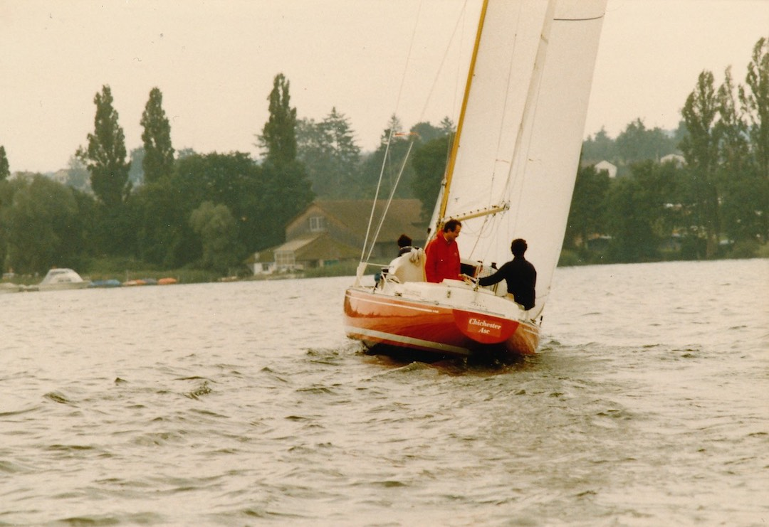 Knapp drei Jahrzehnte war das Boot rot