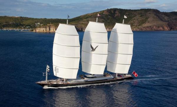 Der 88m Dreimaster «Maltese Falcon»