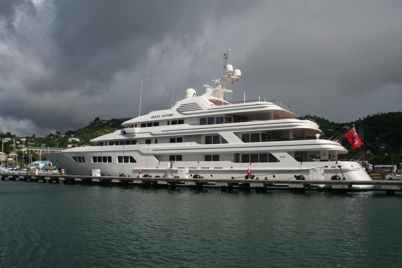 Nummer 9: Die «MY Ebony Shine» (ex Ocean Victory) eines russischen Geschäftsmannes ist die größte, in Italien gebaute Yacht