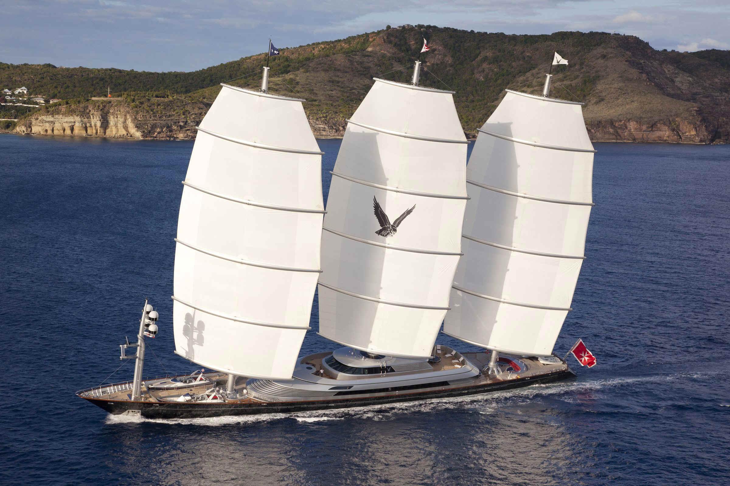 Der 88 m Dreimaster 'Maltese Falcon' © Perini Navi