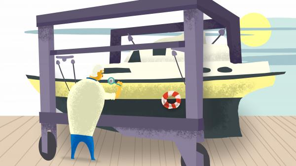 Boot gründlich angucken und Probefahren