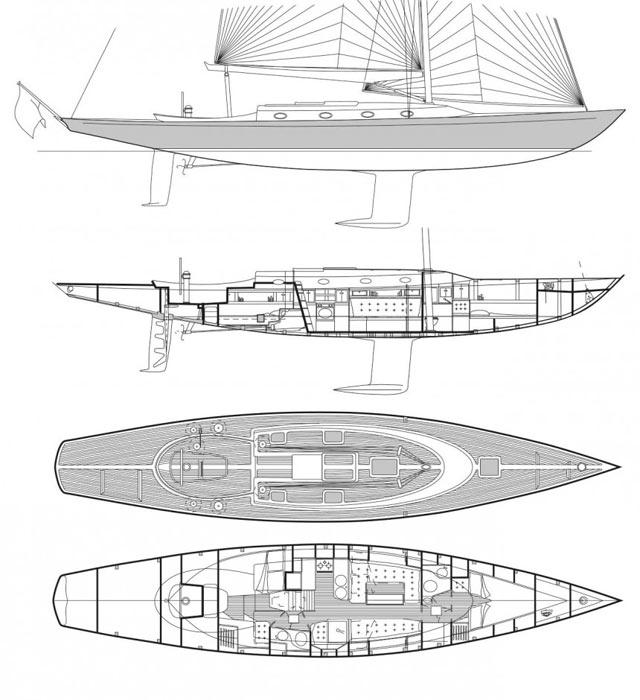 Smarter Crossover aus vertrauten Formen über Wasser und moderner Kiel-/Ruderkonfiguration © Spirit Yachts